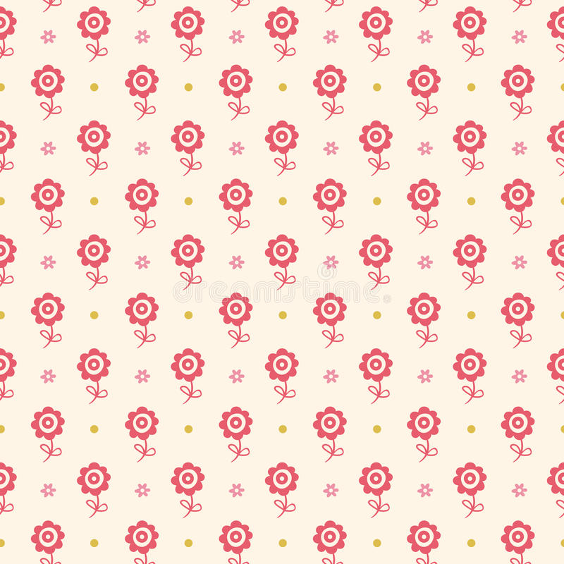 Seamless floral pattern. Flowers texture for kids. royalty free illustration