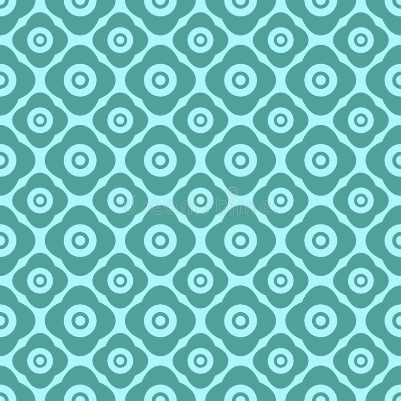 Seamless floral pattern with geometric stylized flowers. vector illustration