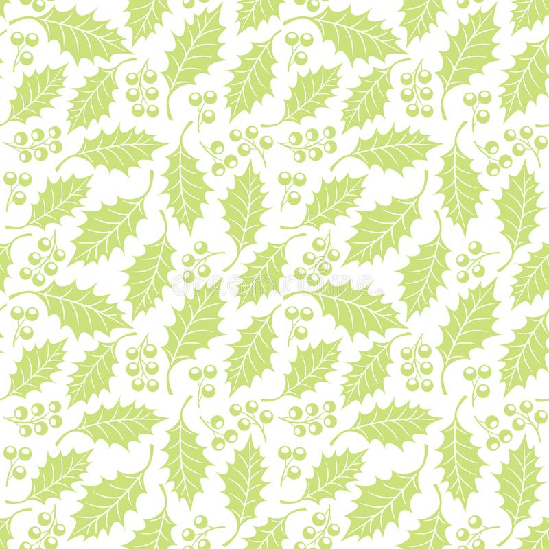 Seamless floral pattern with holly royalty free illustration