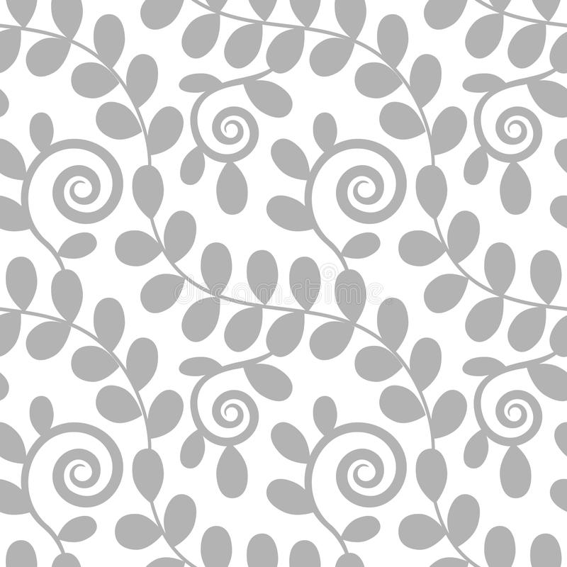Seamless floral pattern with leaves stock illustration