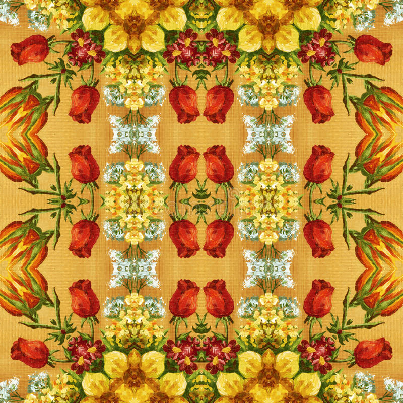 Download Seamless Floral Pattern, Oil Painting Stock Illustration - Image: 43453717