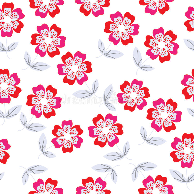 Download Seamless Floral Pattern Stock Vector Illustration Of Contour