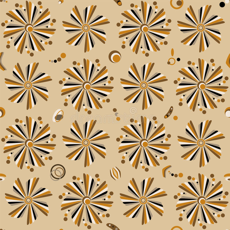 Seamless Floral Pattern. Retro Royalty Free Stock Image