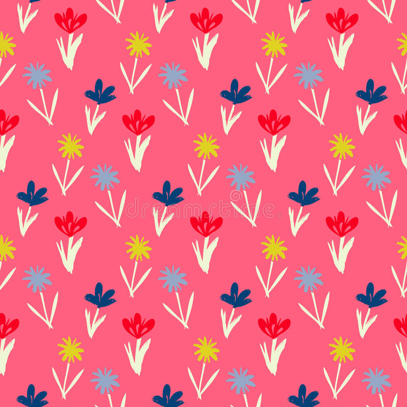 Seamless floral pattern with small flowers stock illustration