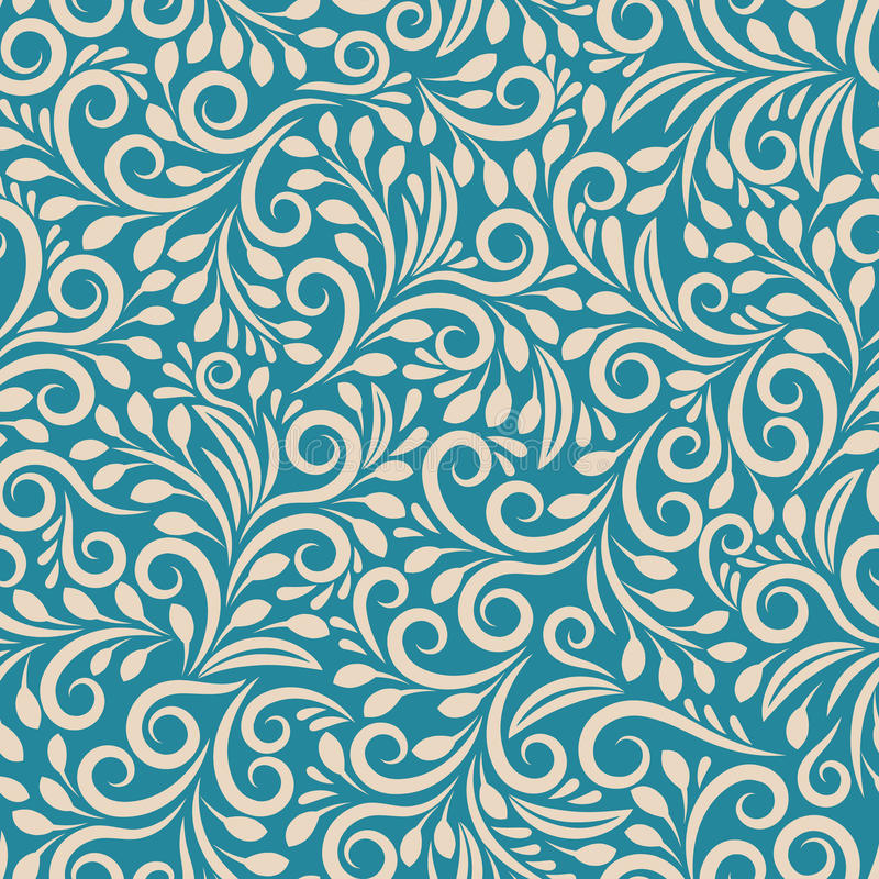 Seamless floral pattern on uniform background royalty free illustration