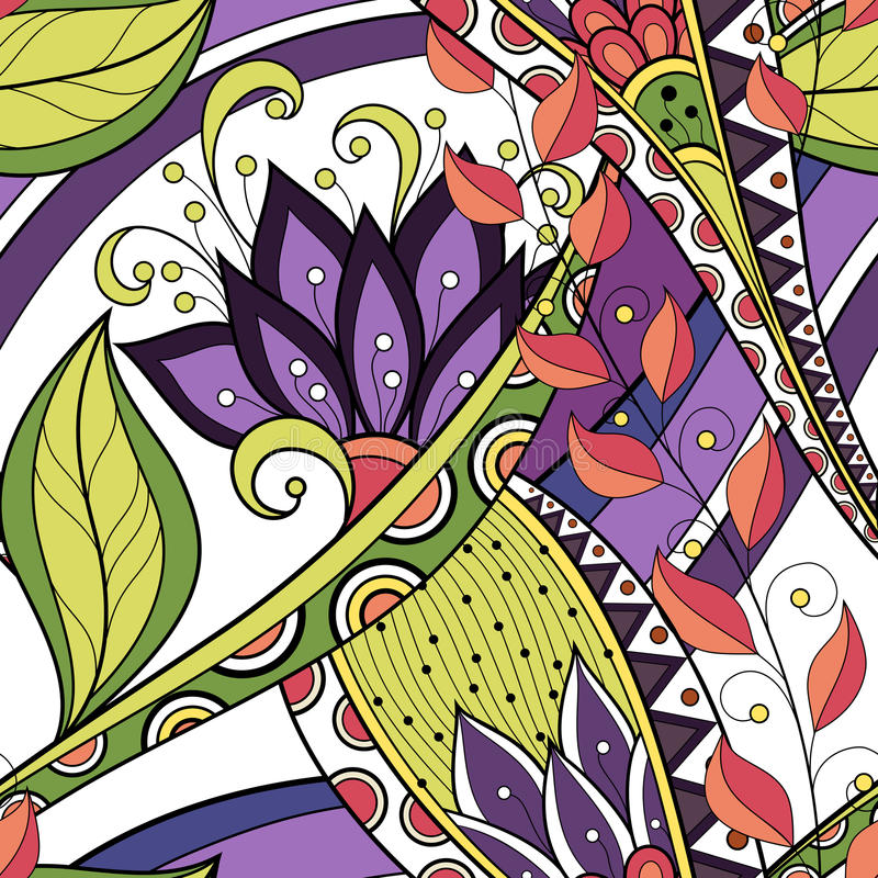 Free Seamless Floral Pattern (Vector) Royalty Free Stock Images - 55183989