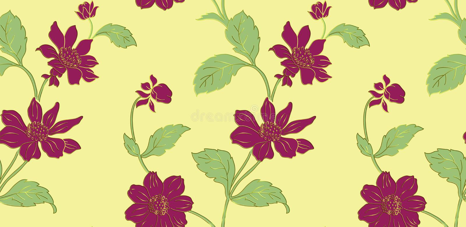 Seamless Floral Pattern in vectorn royalty free illustration