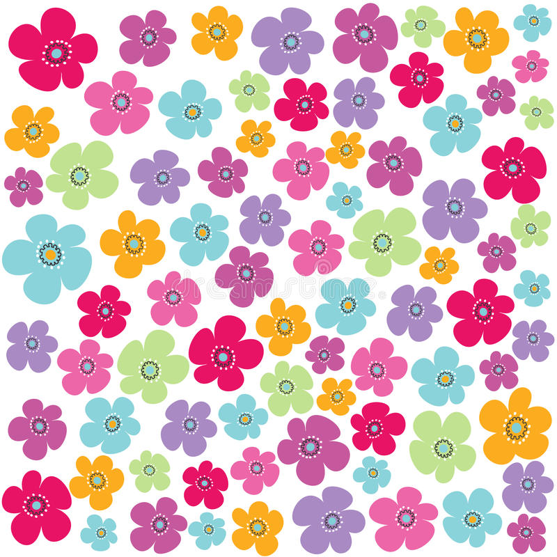 Seamless floral pattern, wallpaper royalty free illustration