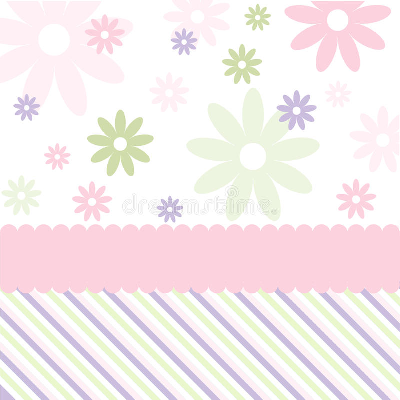 Seamless floral pattern, wallpaper stock illustration
