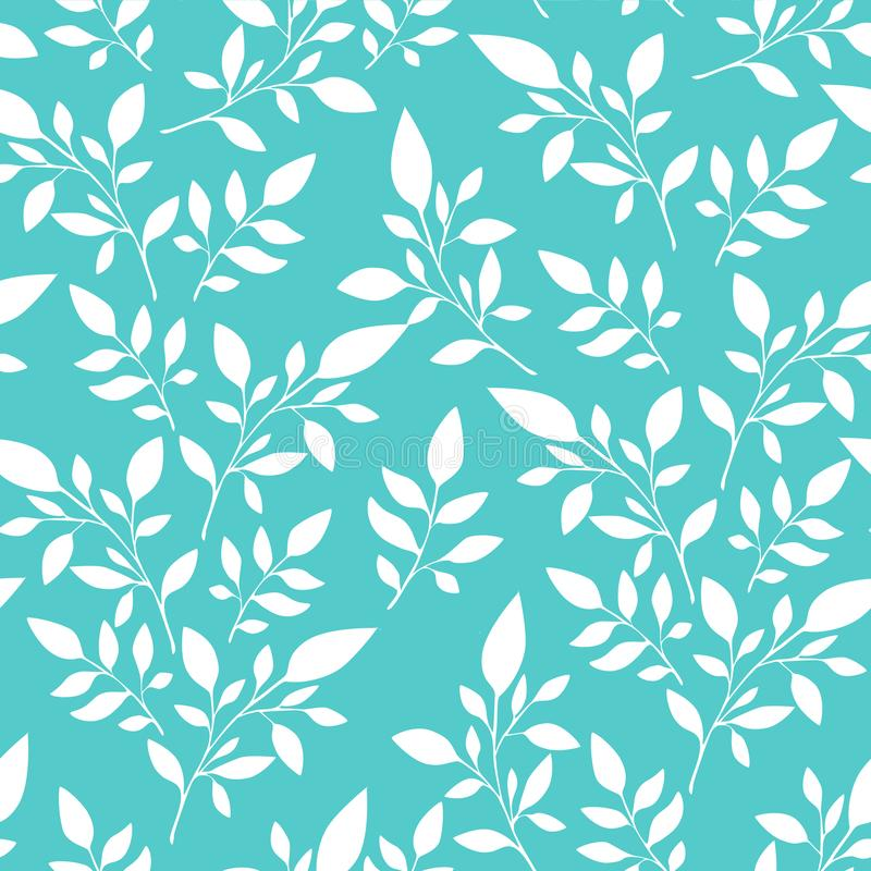 Floral pattern, white leaves on the background  for textile printing or background, wallpaper, ad, banner. Floral pattern black leaves white background   textile stock illustration