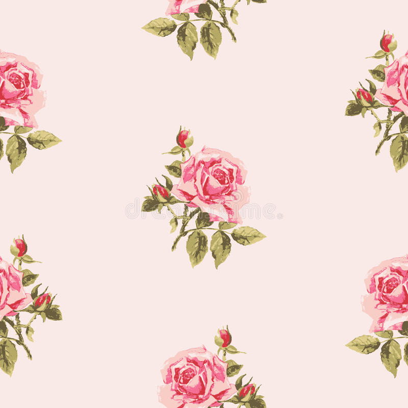 Free Seamless Floral Pattern With Little Roses. Royalty Free Stock Photo - 66045455