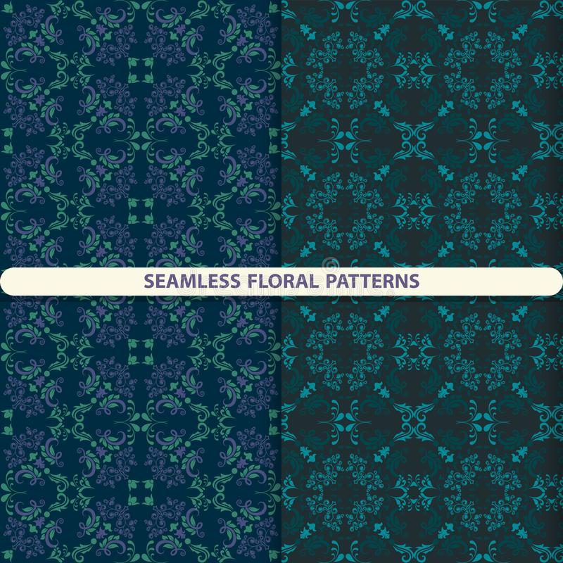 Seamless floral patterns with floral and botanical elements. Flower texture.  print for textiles, wallpaper design, turn paper, pa. Ckaging design royalty free illustration