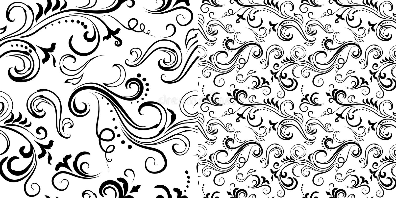 Seamless floral patterns set royalty free illustration