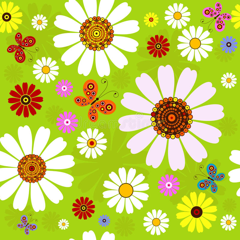 Free Seamless Floral Summer Pattern Stock Image - 14255351