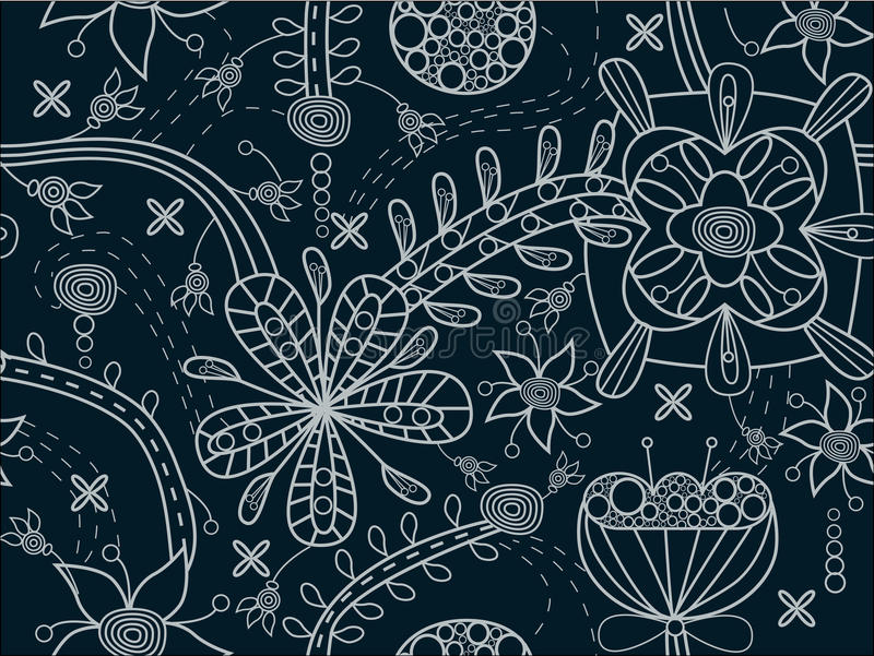 Download Seamless floral texture stock vector. Illustration of decorative - 17540219