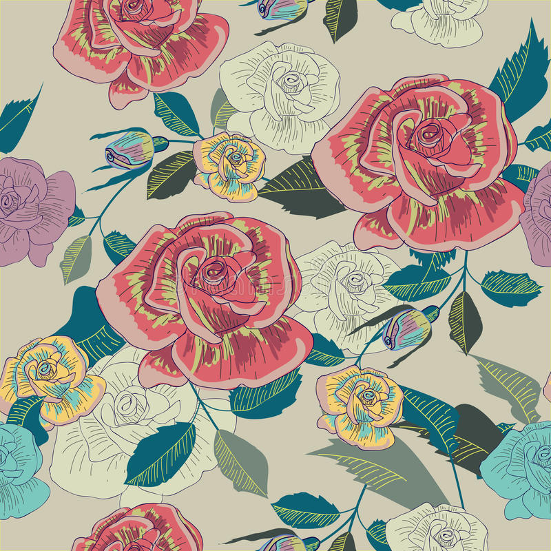 Seamless floral texture vector illustration