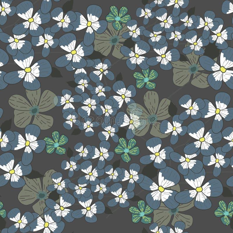 Seamless floral texture stock illustration