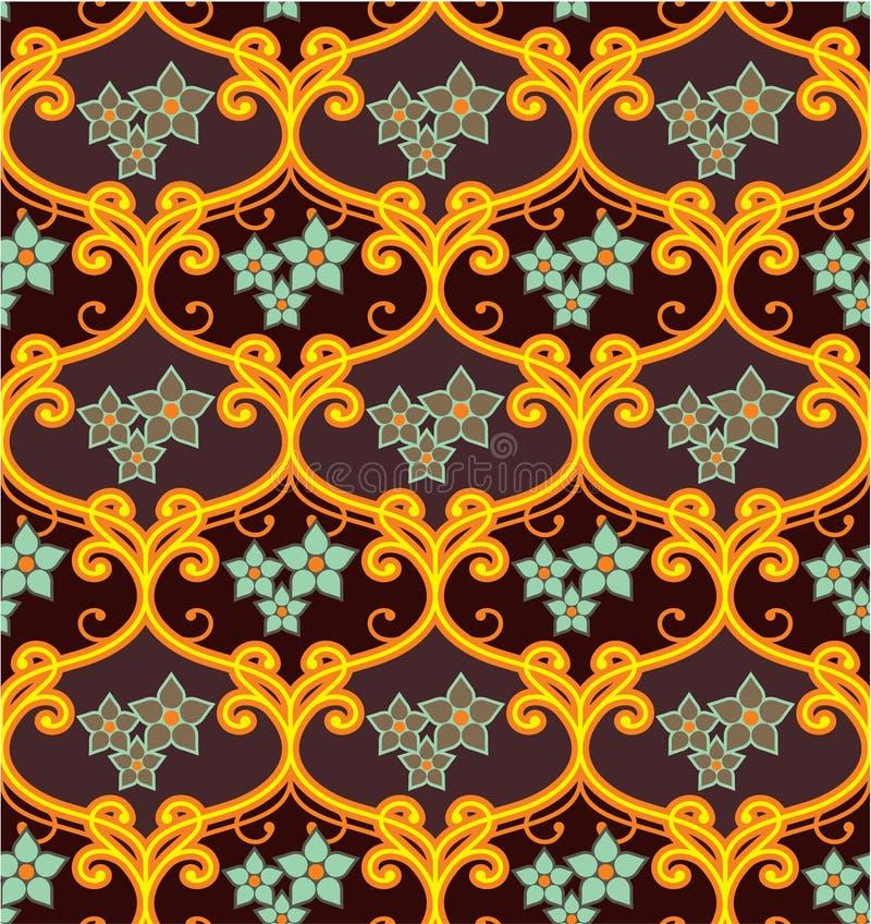 Download Seamless Floral Tile stock vector. Image of floral, flower - 22973938