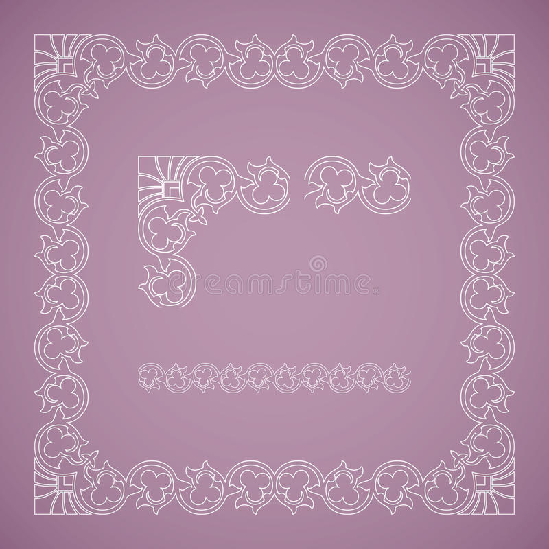 Download Seamless Floral Tiling Frame Stock Vector - Illustration: 33939492