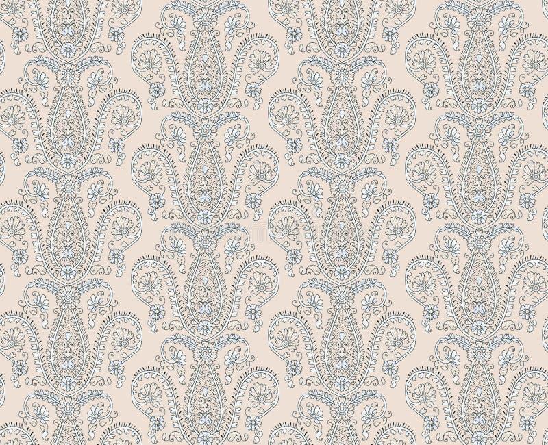Seamless floral unique design pattern royalty free illustration