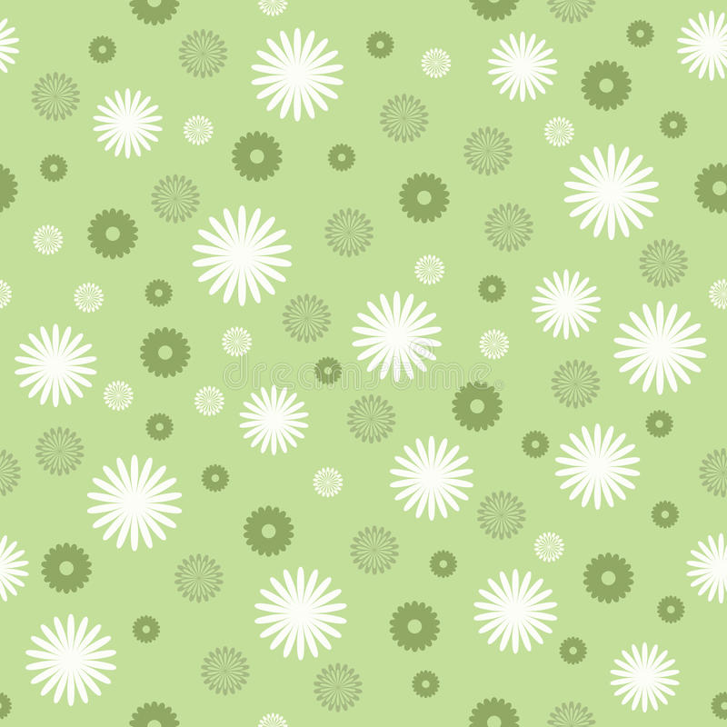 Seamless floral vector stock illustration