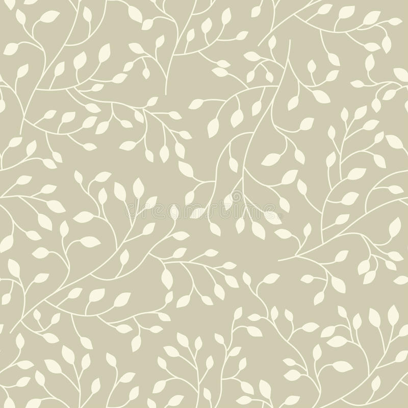 Seamless floral vector pattern stock illustration