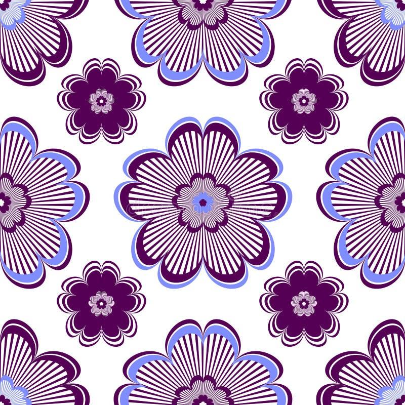 Download Seamless Floral Vivid Violet Pattern Stock Vector - Illustration: 13153024