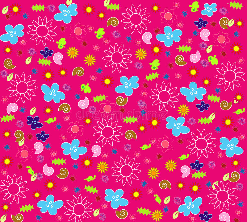Download Seamless floral wallpaper stock illustration. Illustration of colors - 13191850
