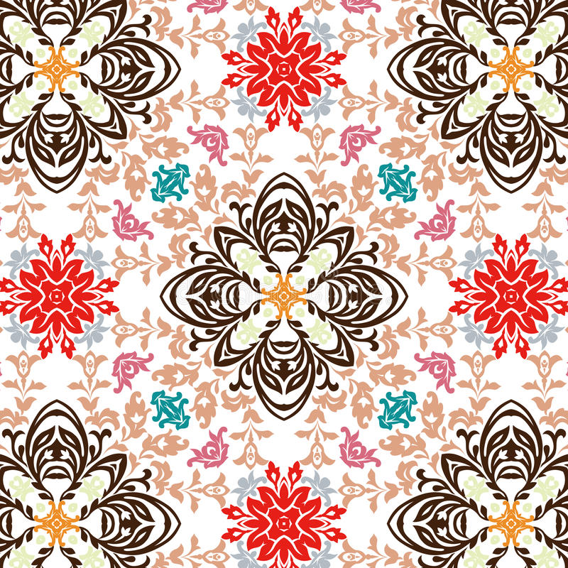 Seamless Floral Wallpaper Royalty Free Stock Images