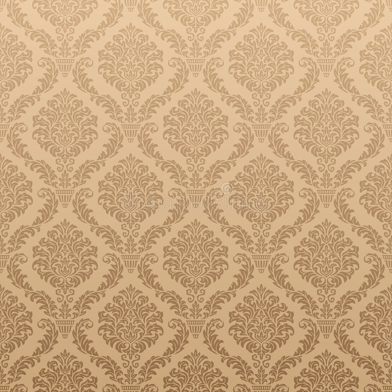 Seamless Floral Wallpaper vector illustration