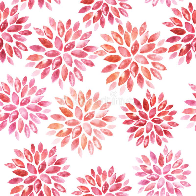 Seamless floral watercolor ornament stock illustration