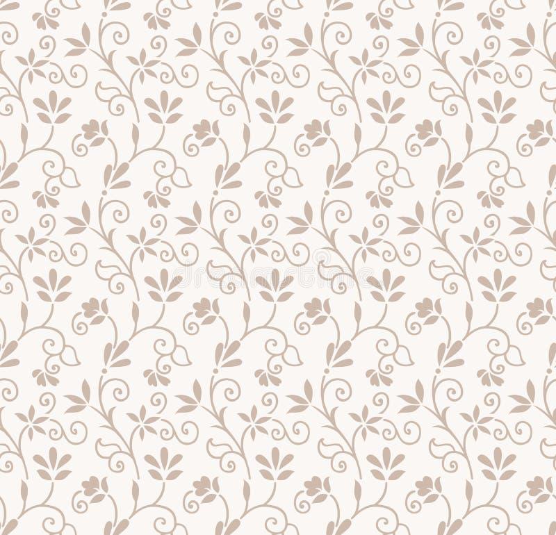 Seamless floral wedding card background vector illustration