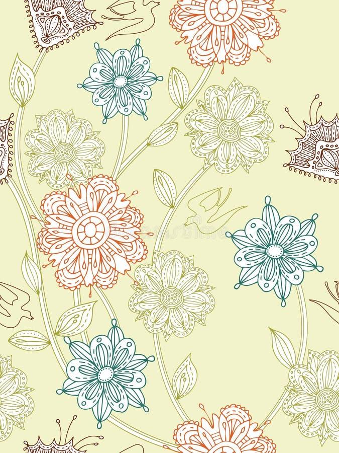 Seamless flower background stock photos