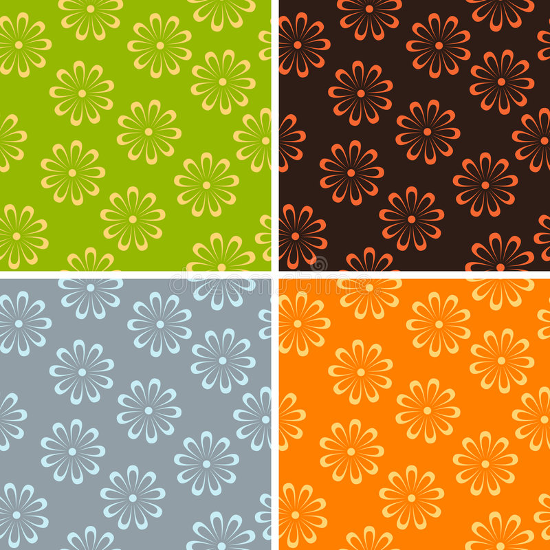 Free Seamless Flower Background Royalty Free Stock Image - 7677366