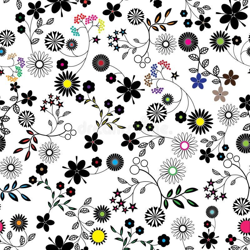 Seamless flower background pattern. stock illustration