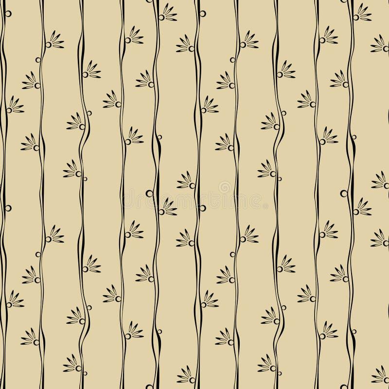 Seamless flower blossom stripes royalty free illustration