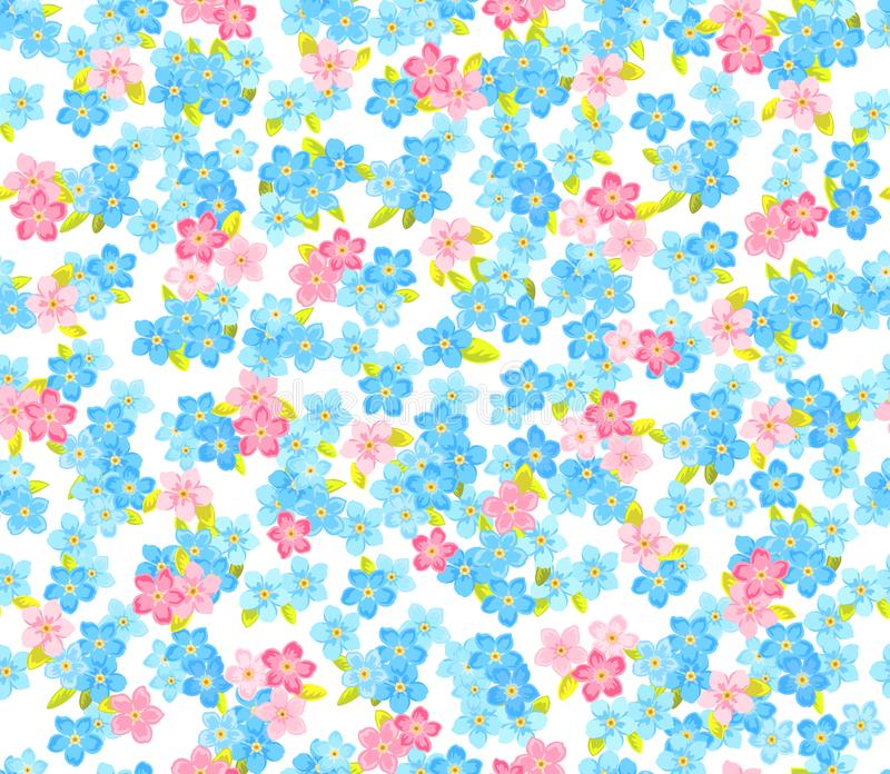 Seamless flower colour pattern. Floral background vector illustration