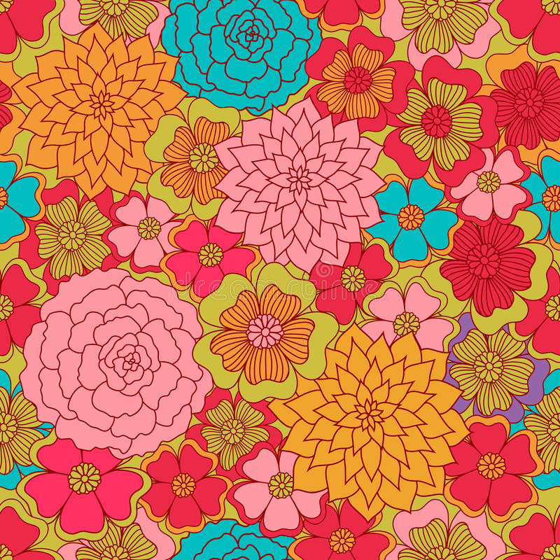 Seamless flower colour pattern. Spring background. Seamless flower colour pattern. Spring vector background royalty free illustration