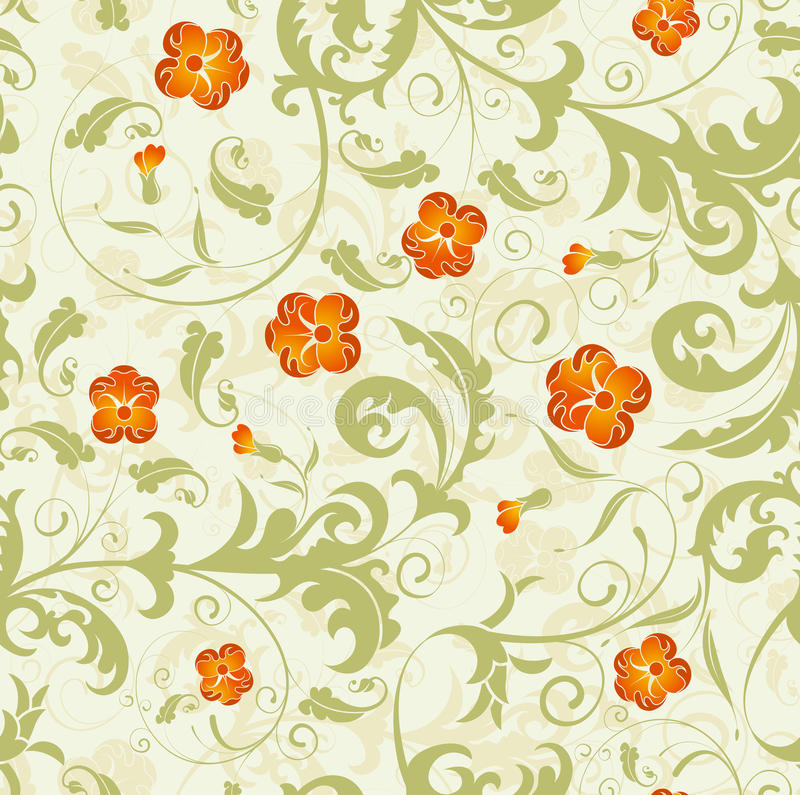 Seamless flower damask pattern royalty free illustration