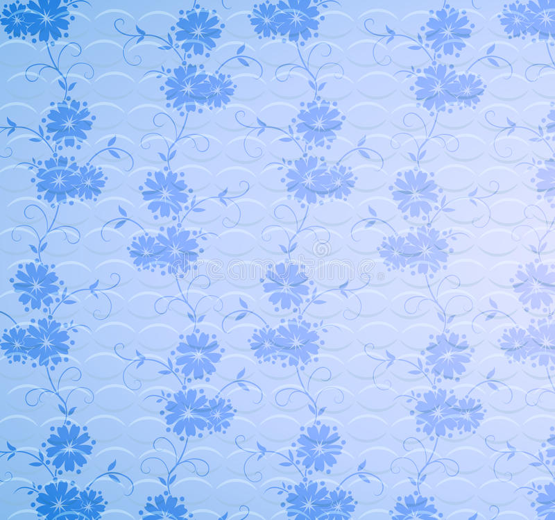 Download Seamless flower pattern stock illustration. Image of curve - 12187252
