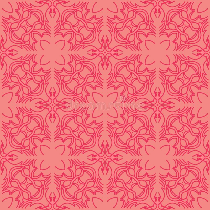 Seamless flower pattern background in pink blush tone stock image