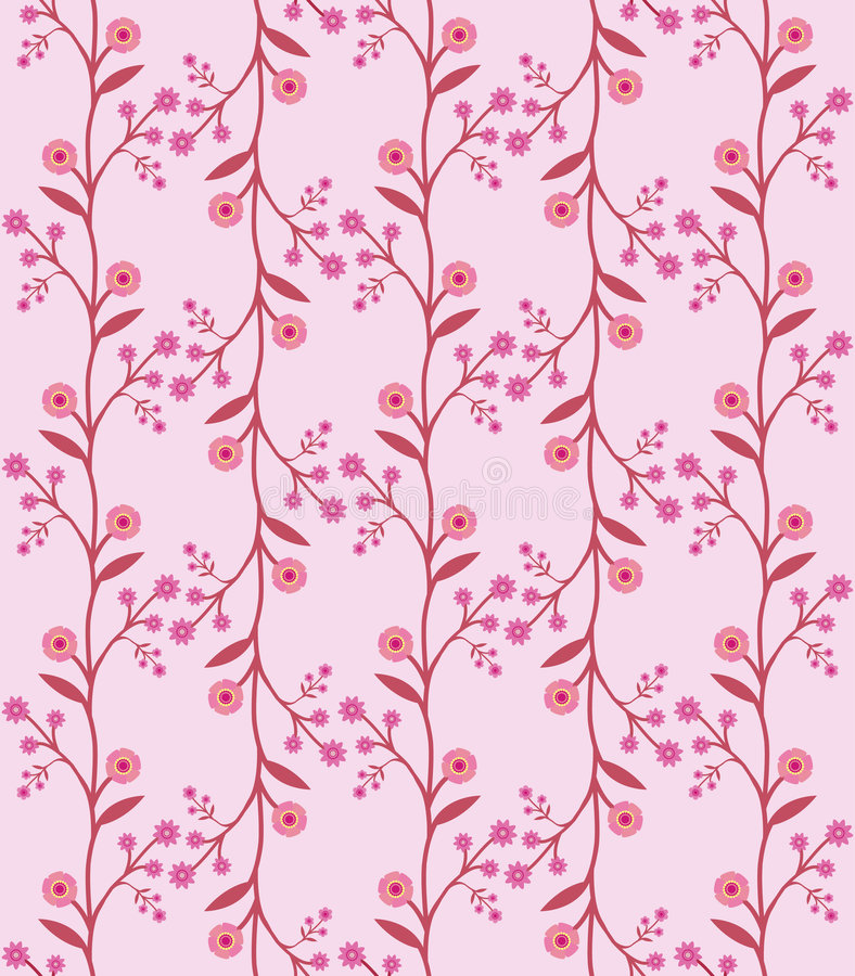 Download Seamless Flower Pattern In Retro Sixties Style Stock Vector - Image: 8758268