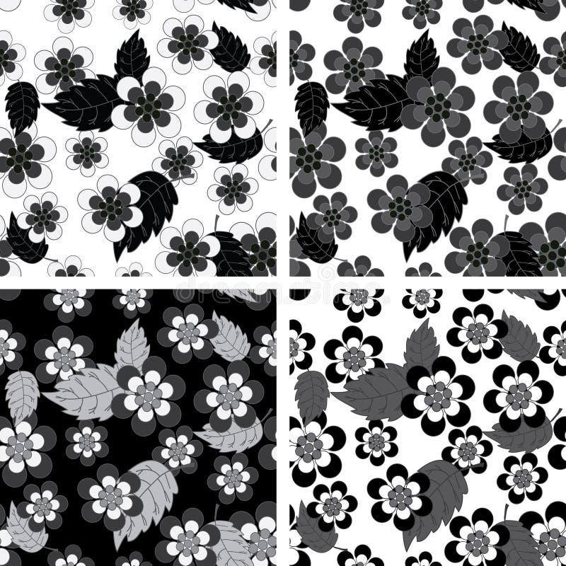 Seamless flower patterns royalty free illustration