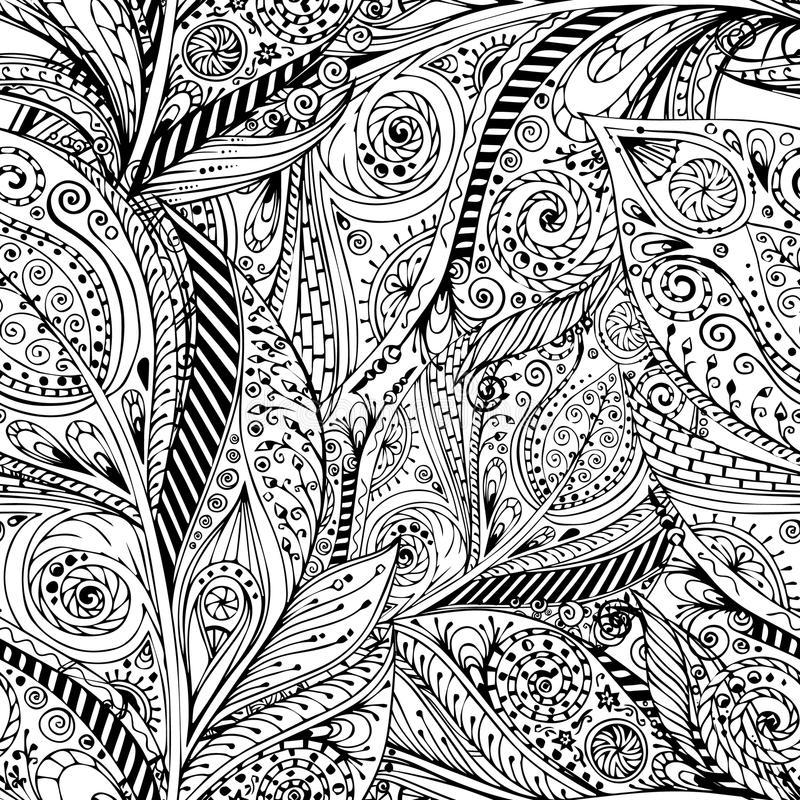 Seamless flower retro background in vector. vector illustration