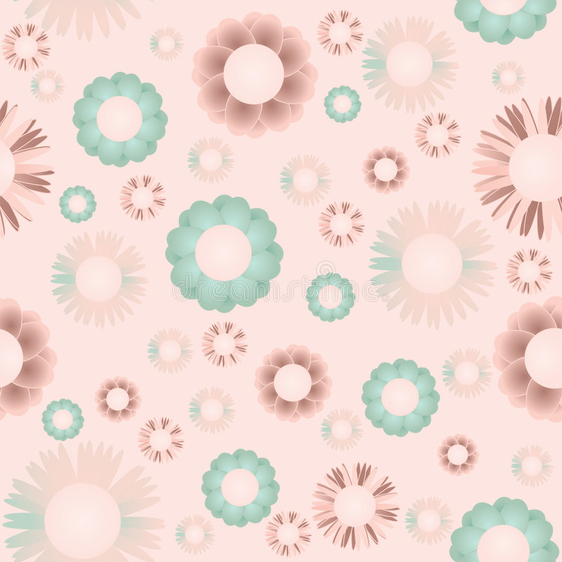 Seamless flowers. The vector illustration contains the image of seamless flowers