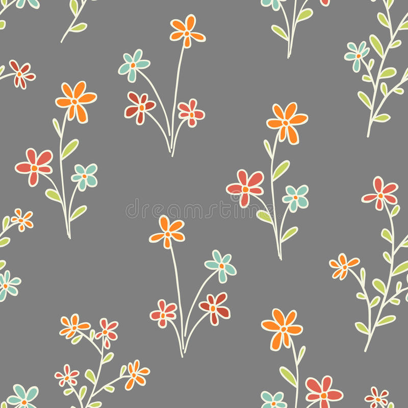 Seamless flowers vector illustration