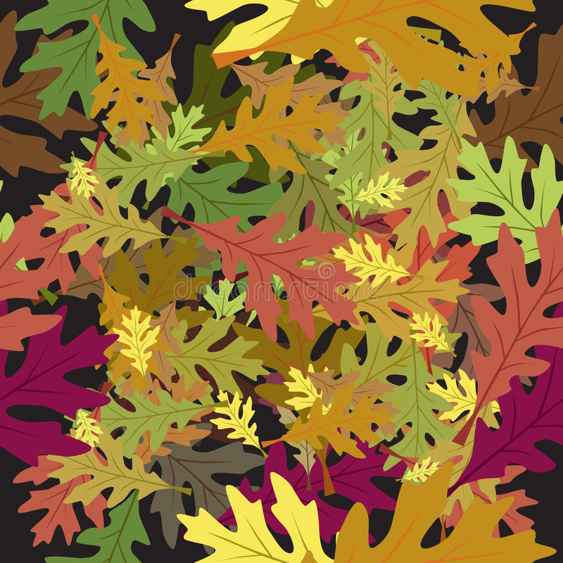 Seamless foliage leaves autumn royalty free illustration