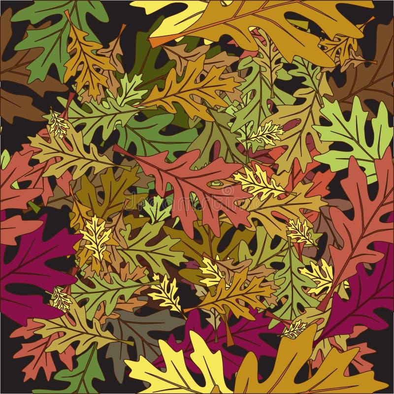 Seamless foliage leaves autumn royalty free illustration