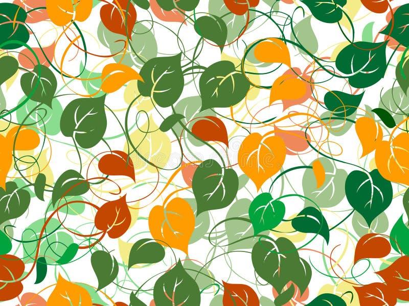 Seamless foliage pattern royalty free stock photography
