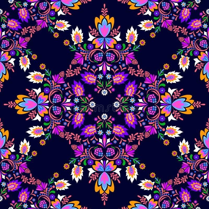 Seamless folk pattern vector illustration